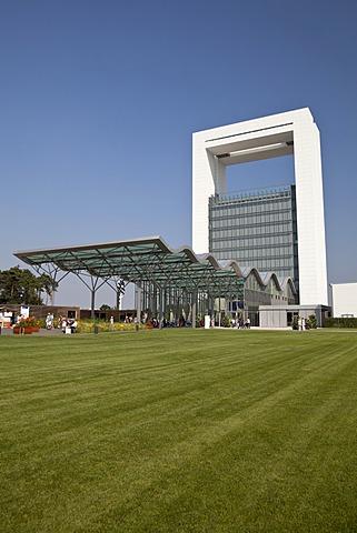 Innovatoren entrance building designed by Jo Coenen, Floriade 2012, Horticultural World Expo, Venlo, Limburg, Netherlands, Europe