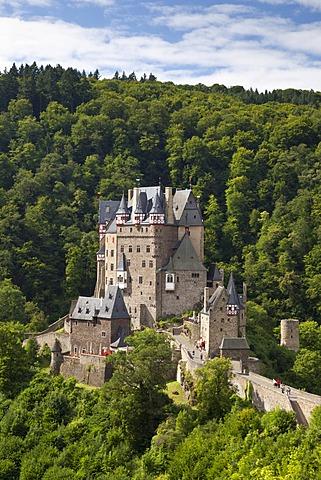 Burg Eltz Castle, Muenstermaifeld, Eifel, Rhineland-Palatinate, Germany, Europe, PublicGround