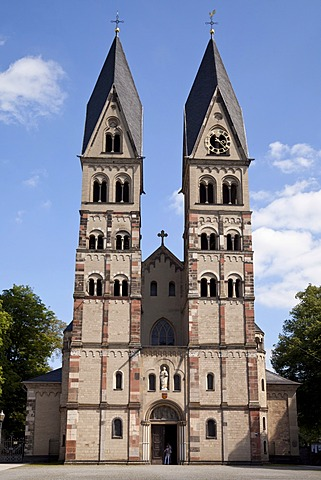 Collegiate Church of St. Castor, Koblenz, Rhineland-Palatinate, Germany, Europe, PublicGround