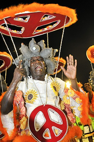 Samba school Unidos do Porto da Pedra, Carnaval 2010, Sambodromo, Rio de Janeiro, Brasilien, Suedamerika