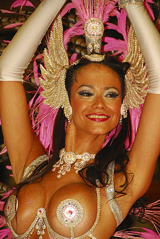 Female dancer at Gualeguaychú carnival, Entre Ríos province, Argentina