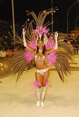 Female dancer at Gualeguaychú carnival, Entre Ríos province, Argentina