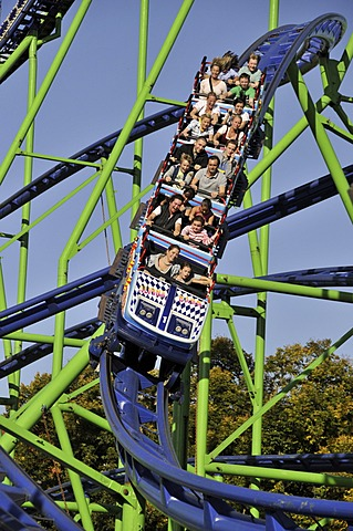 Alpina-Bahn roller coaster, Oktoberfest fair, Munich, Bavaria, Germany, Europe