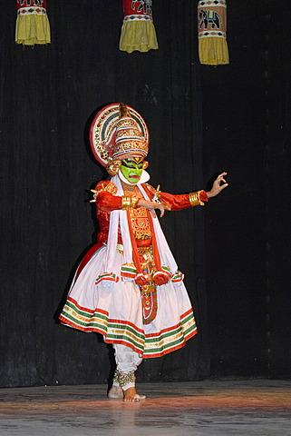 Dancer at a folk dance show, Delhi, India