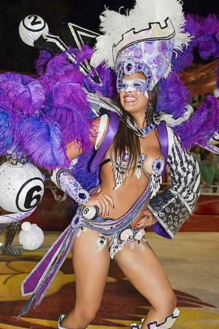 Dancer at the Gualeguaychu Carnival, Entre Rios Province, Argentina, Latin America - 832-369300