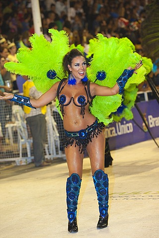 Dancer at the Gualeguaychu Carnival, Entre Rios Province, Argentina, Latin America