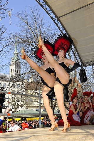 Prinzengarde of Narrhalla, carnival dance troupe, Viktualienmarkt, Munich, Upper Bavaria, Germany, Europe, PublicGround