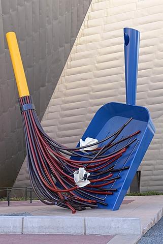 """Big Sweep"", sculpture by Coosje van Bruggen and Claes Oldenburg, Denver Art Museum, Civic Center Cultural Complex, Denver, Colorado, USA, PublicGround"