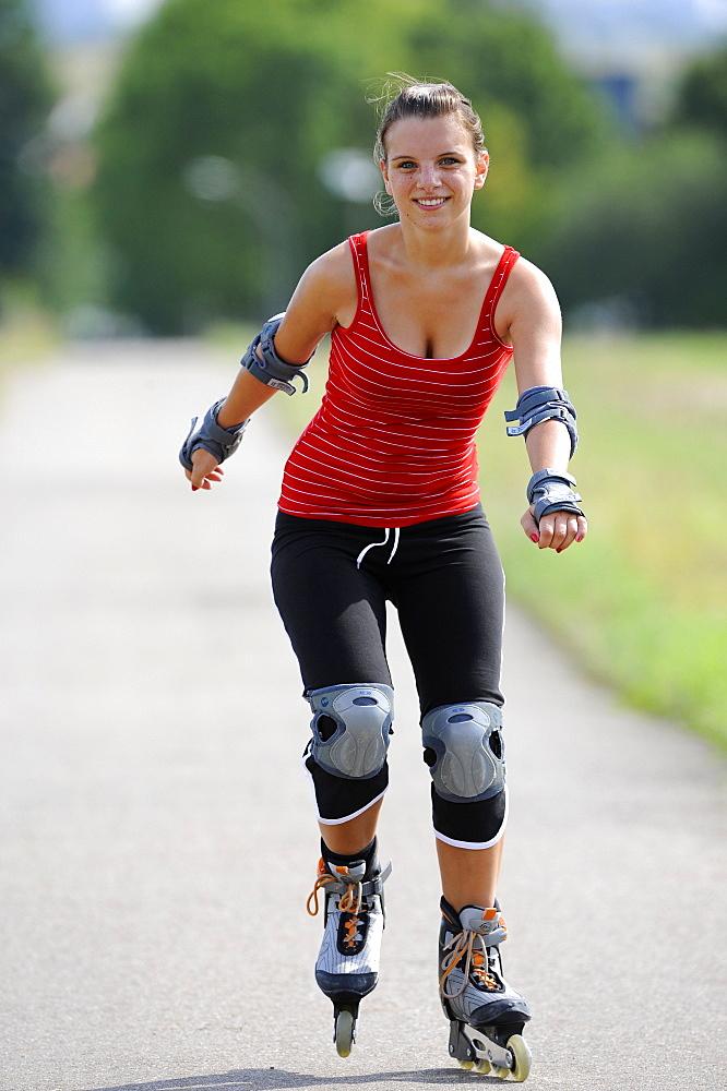 Girl, inline skating