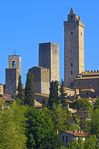 Townscape, San Gimignano, UNESCO World Heritage Site, Tuscany, Siena, Province, Italy, Europe - 832-370223