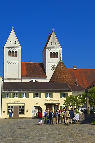 St. John the Baptist, abbey church in Steingaden market place, Steingaden, Upper Bavaria, Bavaria, Germany, Europe