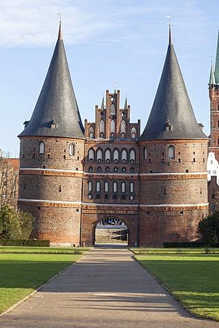 Holstentor, or Holsten Gate, Luebeck, Schleswig-Holstein, Germany, Europe