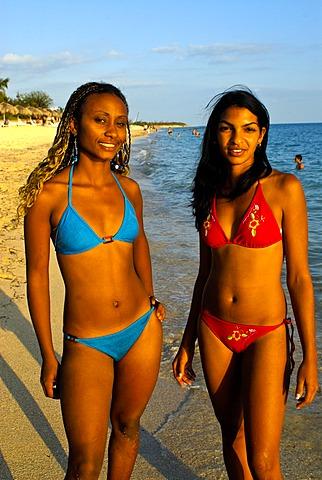 Cuban beach beauties, Trinidad, Cuba, Caribbean