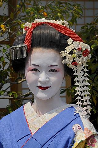 A Maiko, Geisha in training, Kyoto, Japan, Asia