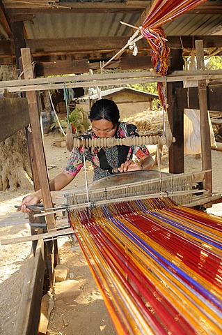Loom on a farm in a village near Bagan, Myanmar, Burma, Southeast Asia, Asia