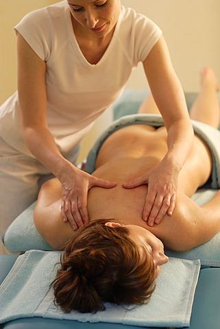 Woman, 35, having a massage