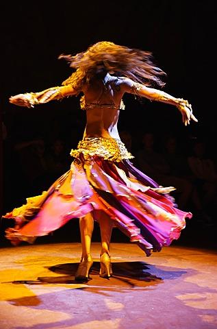 Dance performance in HodjaPasha Cultural Centre, Old City Sultanahmet, Istanbul, Turkey, Europe