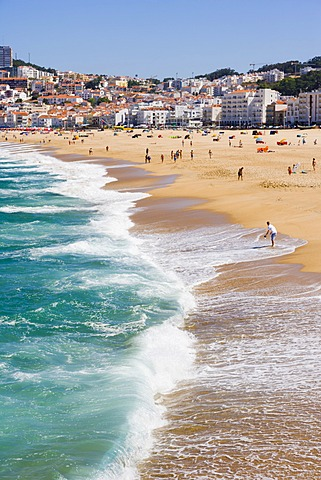 Praia Da Nazare Beach Oeste Leiria District Portugal Europe