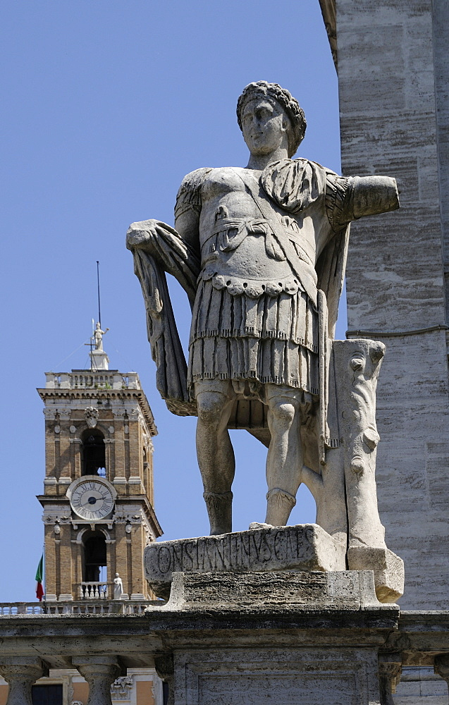 Roman statue on Capitoline Hill, Rome, Italy, Europe
