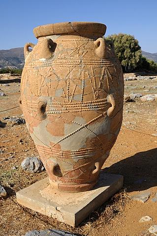 Stoneware jug, Minoan Palace of Malia, Crete, Greece, Europe