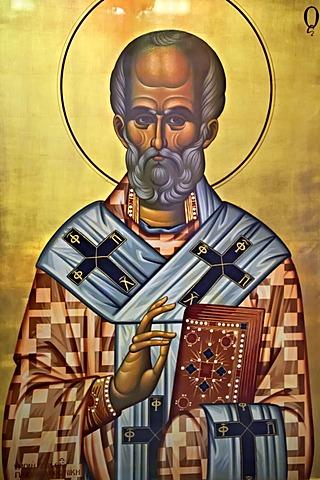 Icon from the 4th Century AD, Saint Demetrios Basilica, an early Christian and Byzantine landmark of Thessaloniki, UNESCO World Heritage Site, Greece, Europe