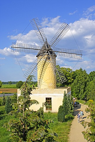 Windmill in the International Wind- and Watermill Museum in Gifhorn, Lower Saxony, Germany, Europe