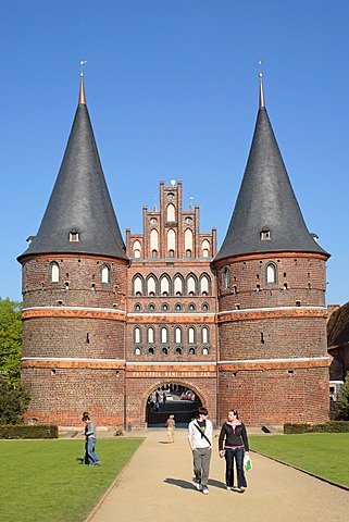Holsten Gate, Luebeck, Schleswig-Holstein, Germany, Europe