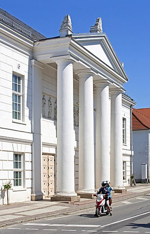 Theatre, Putbus, Ruegen Island, Mecklenburg-Western Pomerania, Germany, Europe