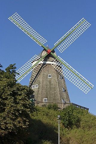 Windmill, Roebel, Mecklenburg Lake District, Mecklenburg-Western Pomerania, Germany, Europe