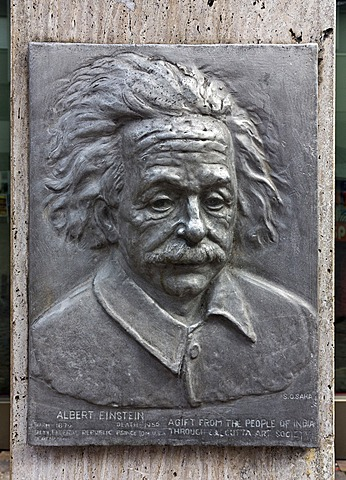 Memorial plaque, Albert Einstein, Ulm, Baden-Wuerttemberg, Germany, Europe