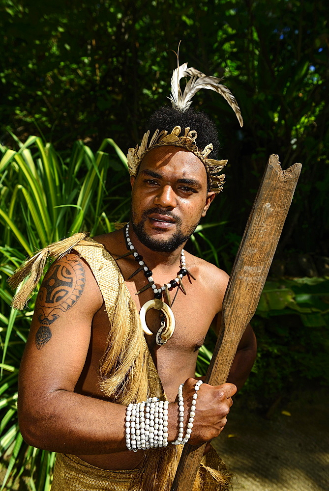 Native Man, Ekasup Cultural Village, Island of Efate, Vanuatu, South Sea, Oceania