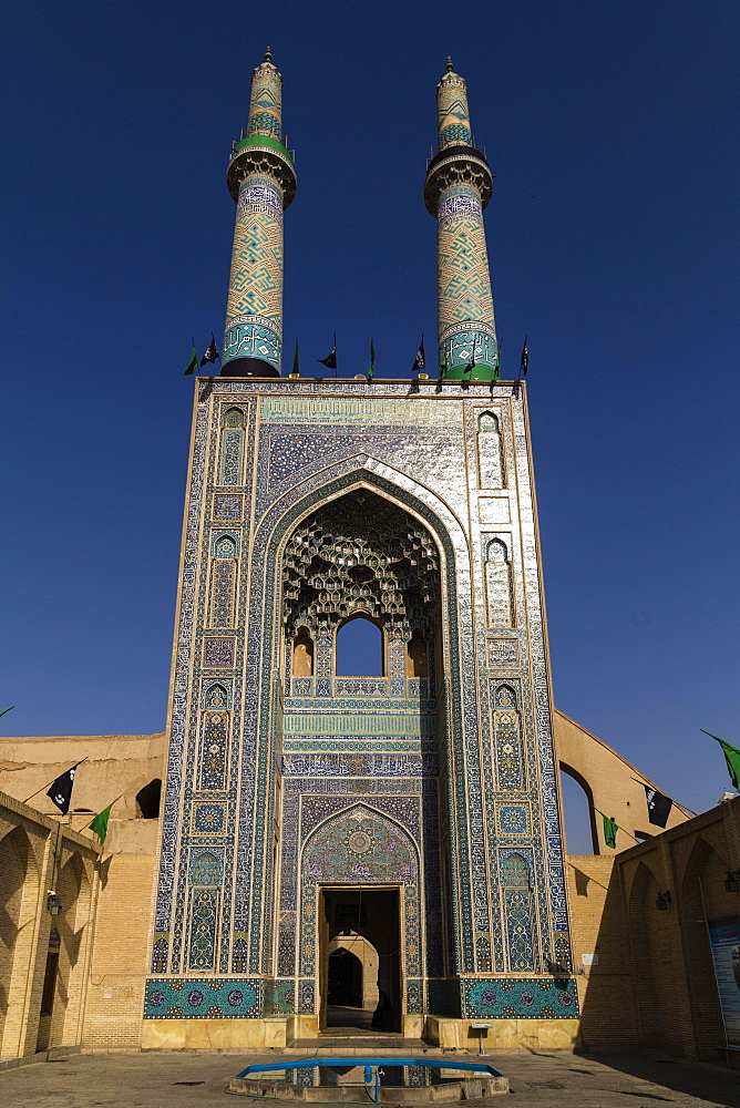 Masjed-e Jameh, or Jameh Mosque, Yazd, Iran, Asia