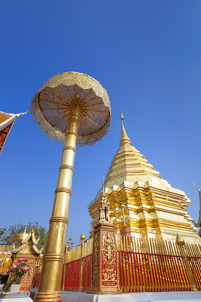 Wat Phra That Doi Suthep temple, Chiang Mai, Thailand, Asia