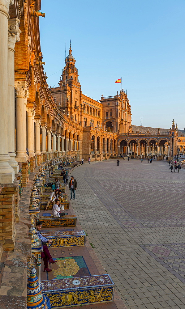 National Geographic Institute, Plaza de Espana, Seville, Spain, Europe