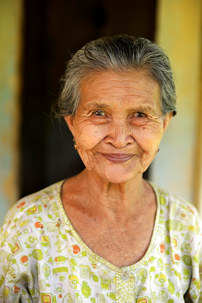Elderly woman, portrait, Simeulue, Indonesia, Asia
