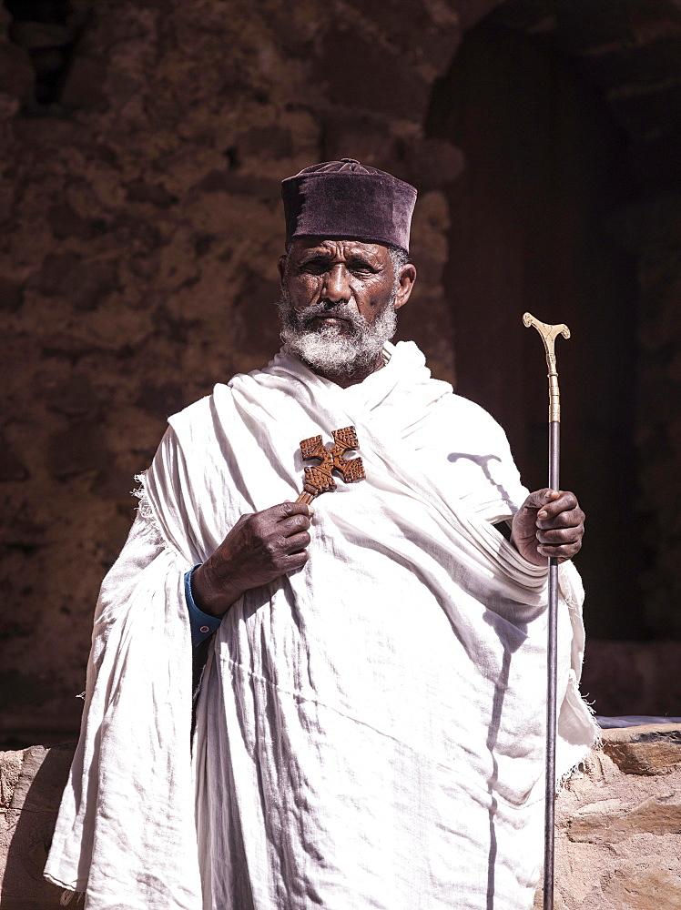 Priest, Gondar, Ethiopia, Africa