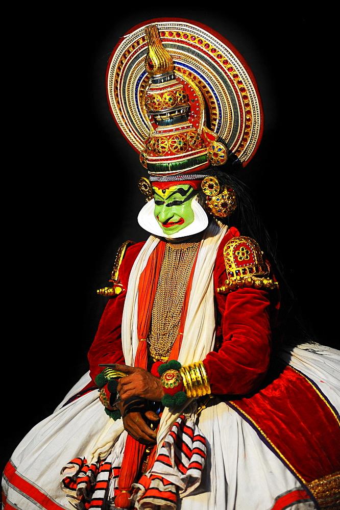 Kathakali, traditional ritual dance theatre, Varkala, Kerala, South West India, India, Asia