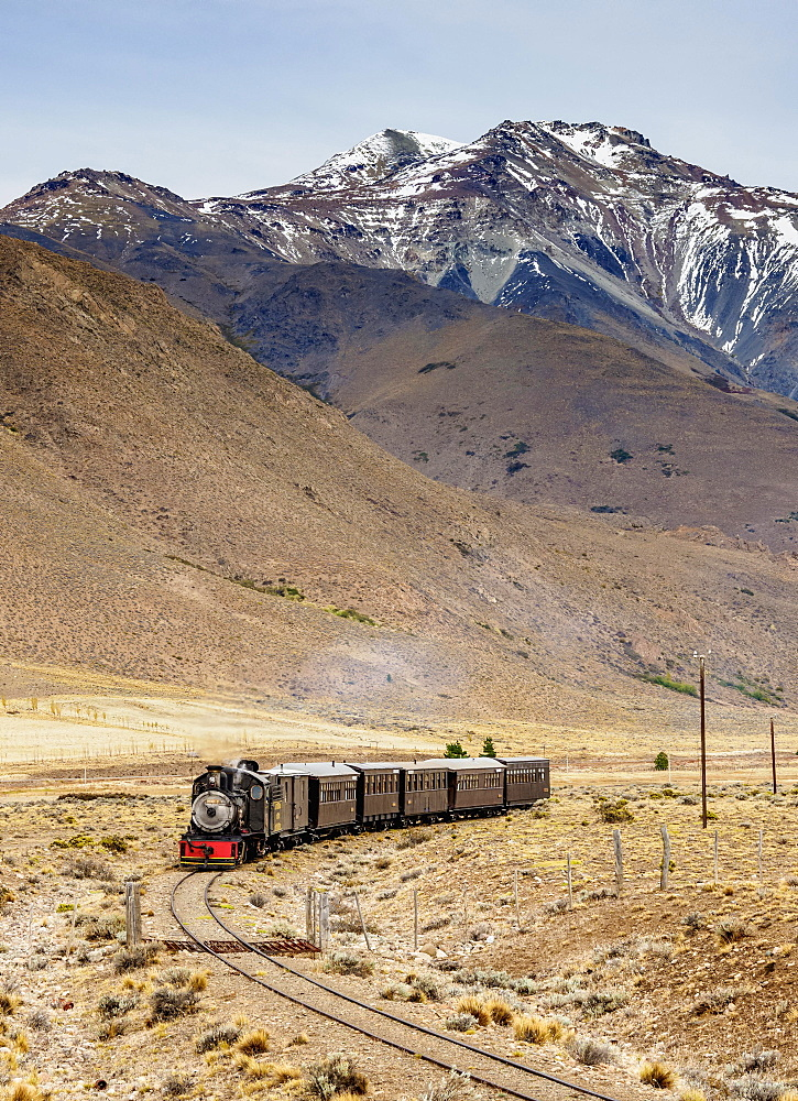 Old Patagonian Express La Trochita, steam train, Chubut Province, Patagonia, Argentina, South America - 832-382970