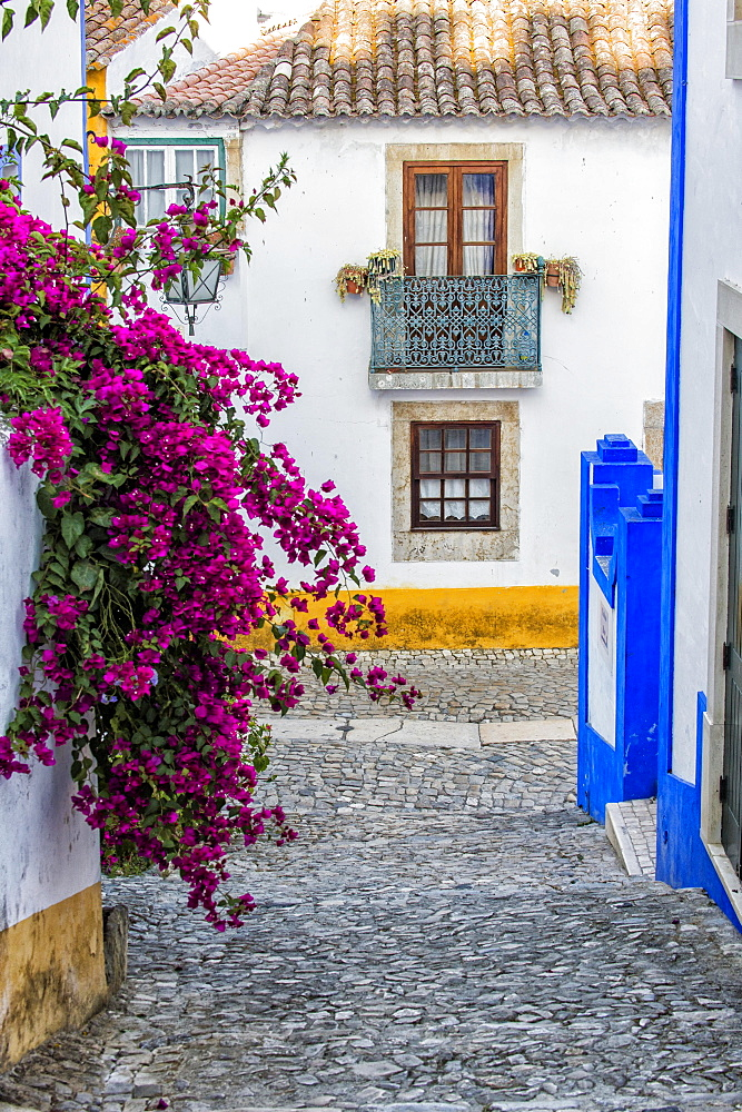 Alleyway, Obidos, Leiria District, Portugal, Europe