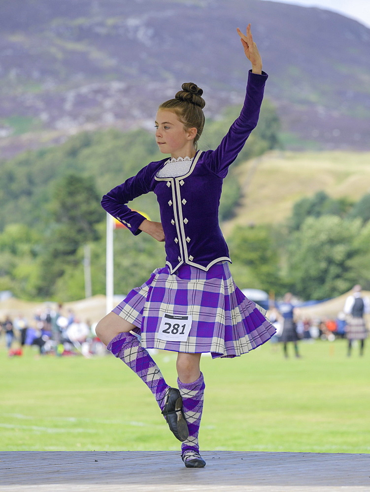 Highland Dancing, Highland Games, Newtonmore, Scotland, United Kingdom, Europe