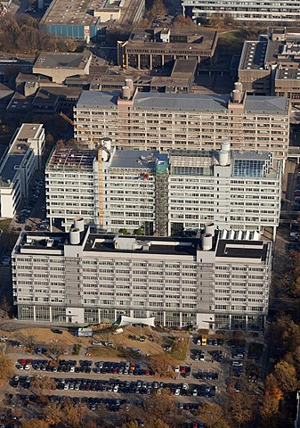 Aerial view, Uni-Tech-Center at front, Technologiezentrum Ruhr, centre, MA-Building of the Faculty of Medicine at back, Bochum, Ruhr Area, North Rhine-Westphalia, Germany, Europe