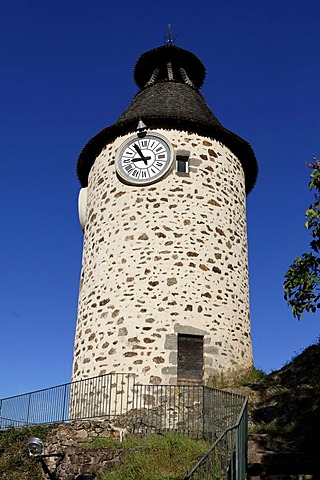 Clock tower, Aubusson, Creuse, France, Europe