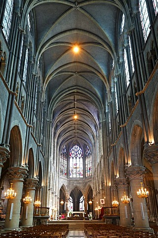The Cathedral of Moulins, Allier, Auvergne, France, Europe