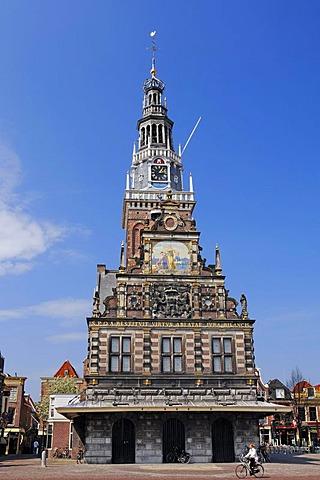 Cheese Museum, De Waag, former Weigh House, Alkmaar, North Holland, Holland, Netherlands, Europe