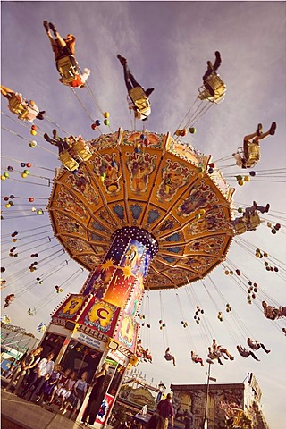 Chair swing ride or Chair-O-Planes, Oktoberfest, Munich, Bavaria, Germany, Europe - 832-43214