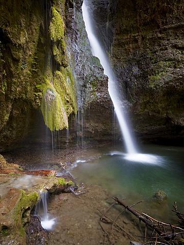 Hinang waterfalls, Hinang, Allgaeu, Bavaria, Germany, Europe