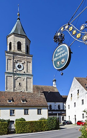 Parish church of St. Salvator and the Holy Cross, Heilig Kreuz, former Augustinian Canons Church, Polling, Upper Bavaria, Bavaria, Germany, Europe, PublicGround