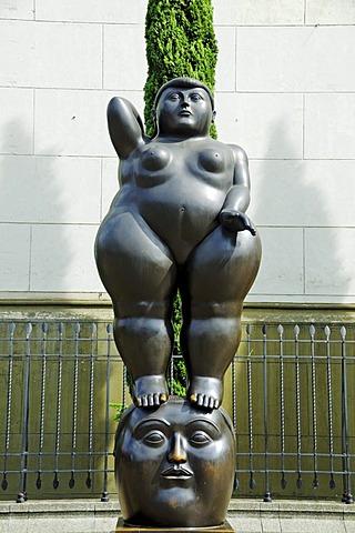 Sculpture by the artist and sculptor Fernando Botero in Plaza Botero, Medellin, Colombia, South America, Latin America, America