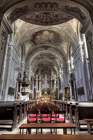 Parish church in Waidhofen an der Thaya, Waldviertel region, Lower Austria, Austria, Europe