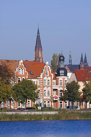 Historic district with the State Museum and the cathedral, Schwerin, Mecklenburg-Western Pomerania, Germany, Europe